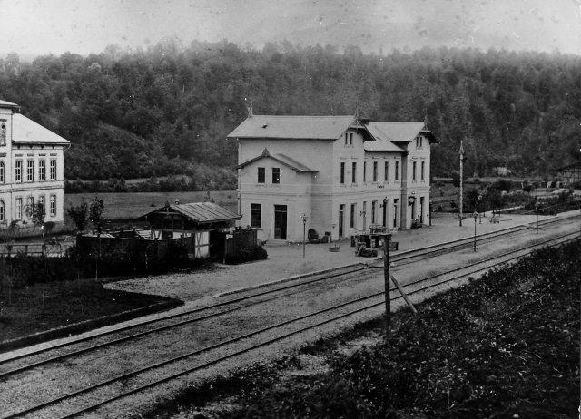 Camburg Bahnhof 1873